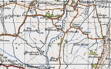 Old map of Whitcot in 1947
