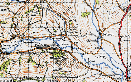 Old map of Weston Hill in 1947