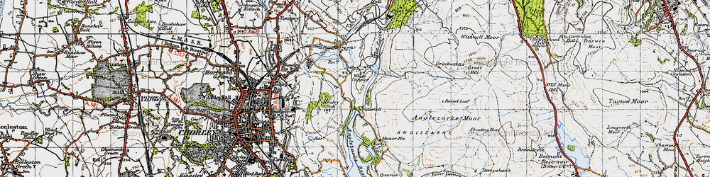 Old map of White Coppice in 1947