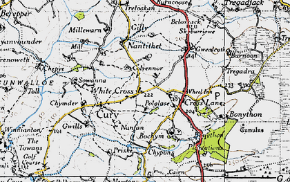 Old map of White Cross in 1946