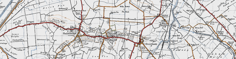 Old map of White Cross Hill in 1946