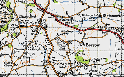Old map of White End in 1947