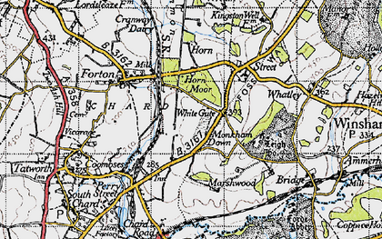 Old map of White Gate in 1945