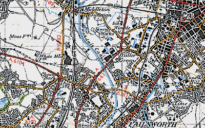 Old map of White Gate in 1947