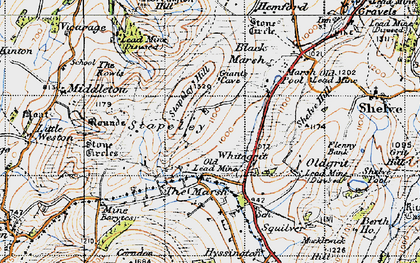 Old map of White Grit in 1947