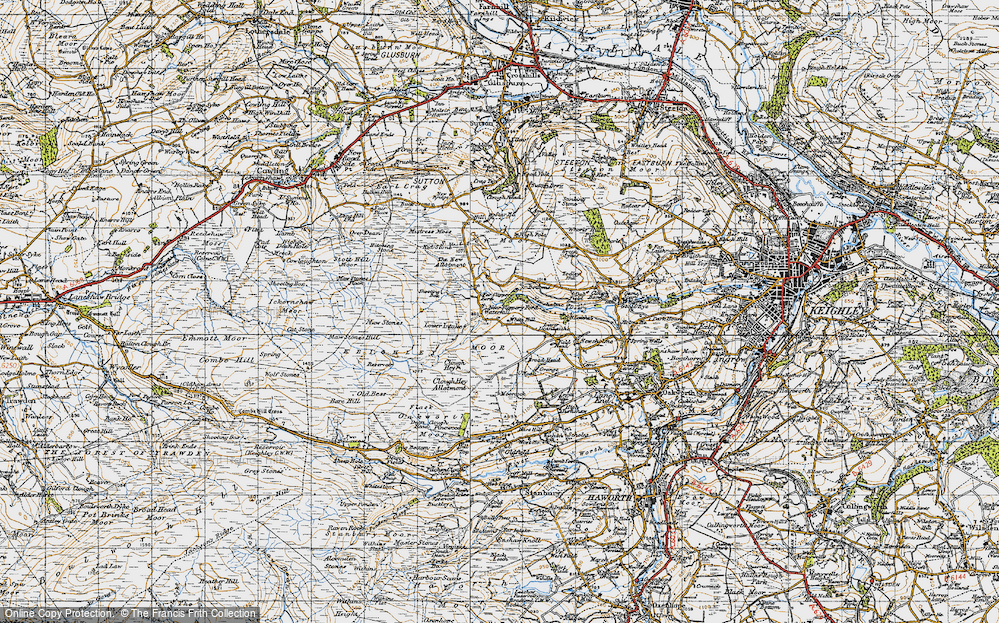 Old Map of White Hill, 1947 in 1947