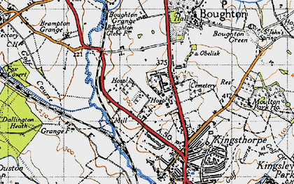 Old map of White Hills in 1946