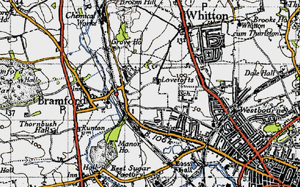 Old map of White House in 1946