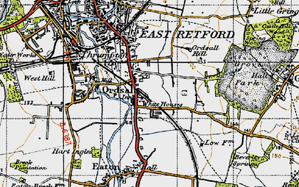 Old map of White Houses in 1947