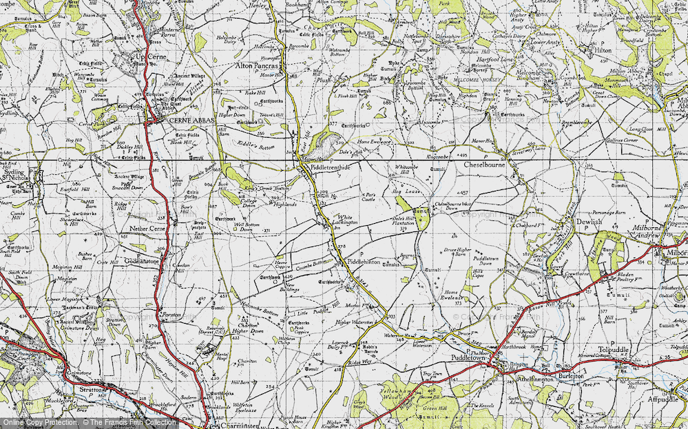 Old Map of White Lackington, 1945 in 1945