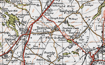 Old map of White-le-Head in 1947