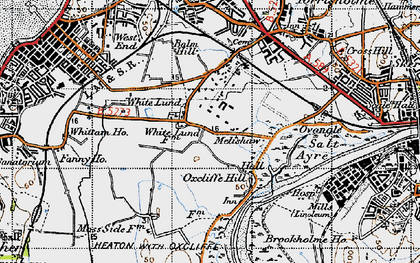 Old map of White Lund in 1947