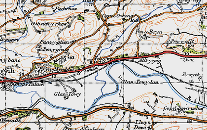 Old map of White Mill in 1946