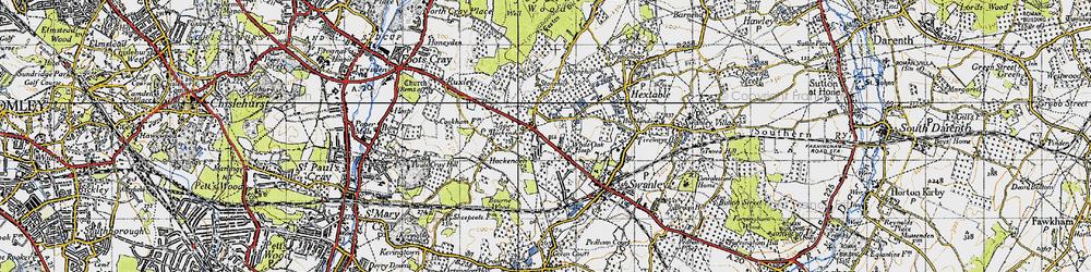 Old map of White Oak in 1946