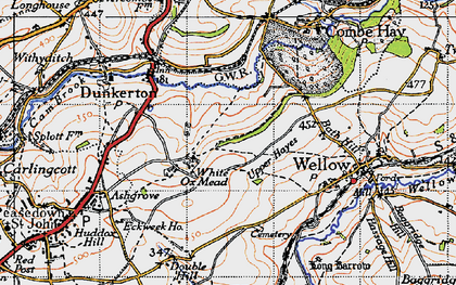 Old map of White Ox Mead in 1946