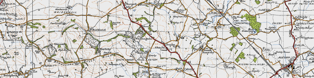 Old map of White Pit in 1946