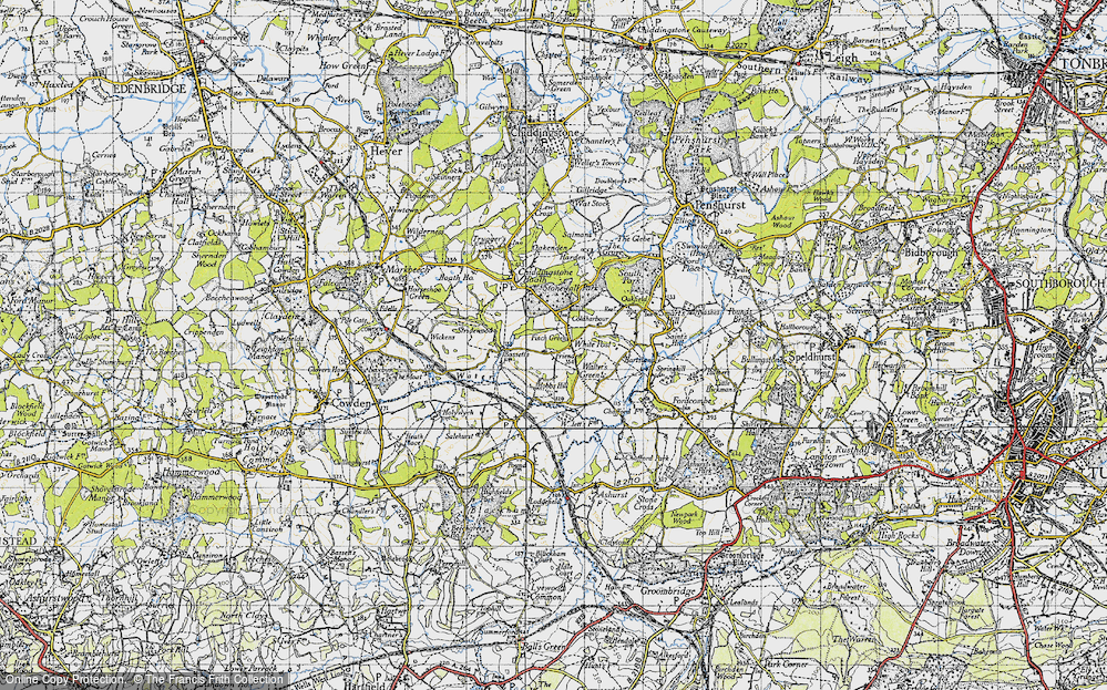 Old Map of White Post, 1946 in 1946