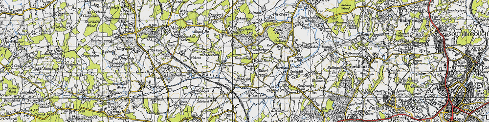 Old map of White Post in 1946