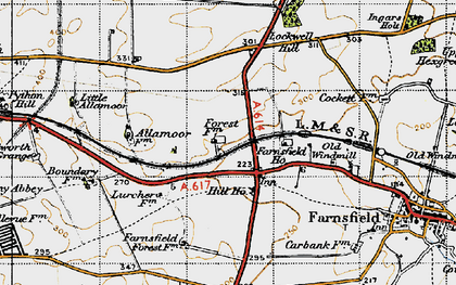 Old map of White Post in 1947