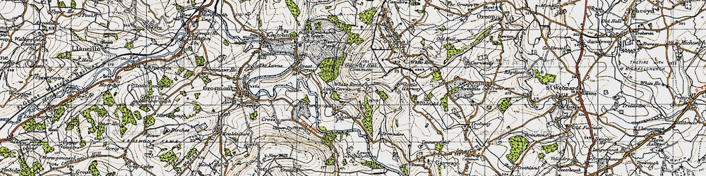 Old map of White Rocks in 1947