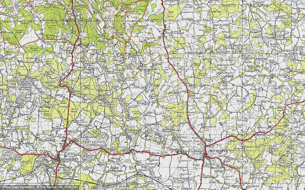 Old Map of White's Green, 1940 in 1940