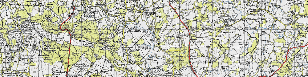 Old map of White's Green in 1940