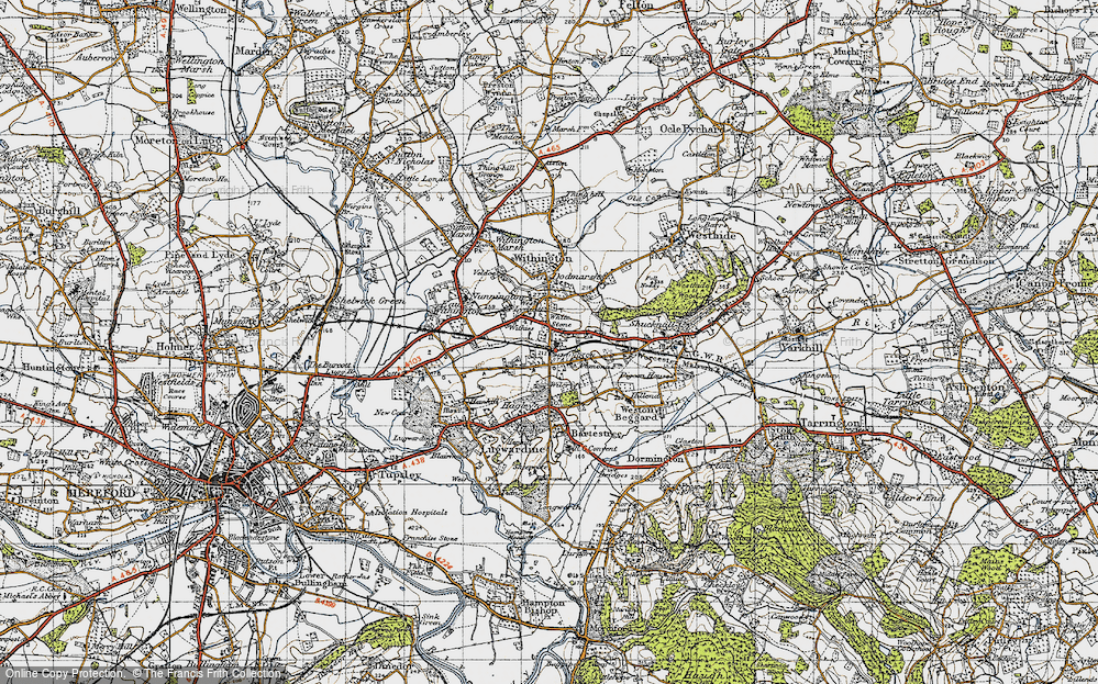 Old Map of White Stone, 1947 in 1947