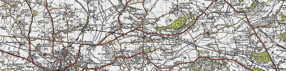 Old map of White Stone in 1947