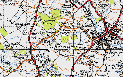 Old map of Whiteash Green in 1945