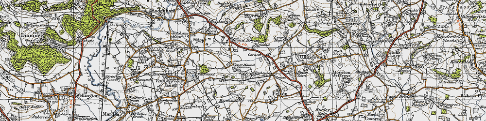 Old map of Whitechurch Maund in 1947