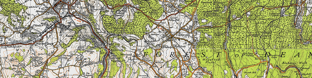 Old map of Whitecliff in 1946