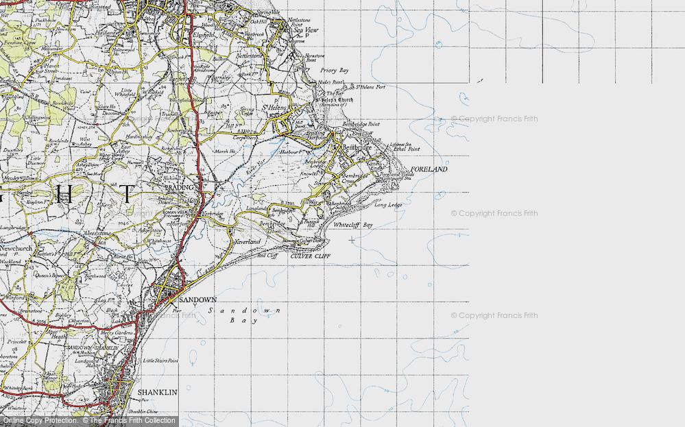 Whitecliff Bay, 1945