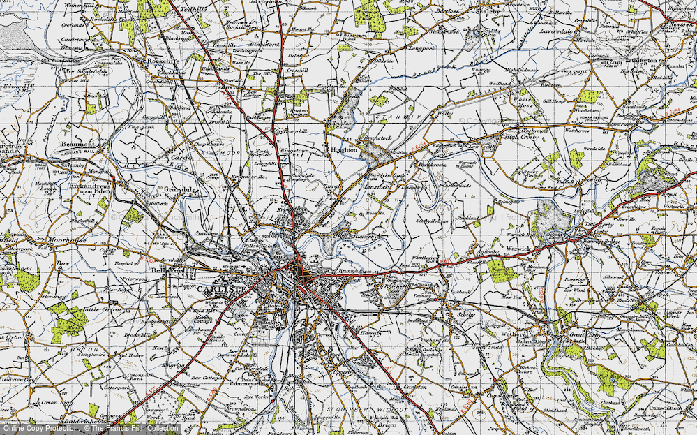 Old Map of Whiteclosegate, 1947 in 1947