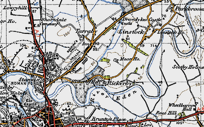 Old map of Whiteclosegate in 1947