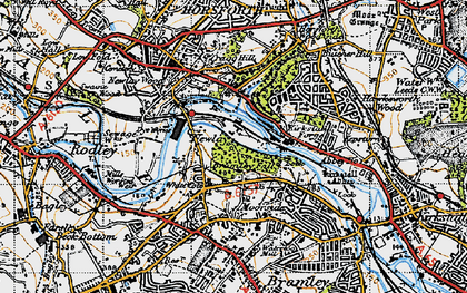 Old map of Whitecote in 1947