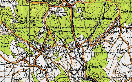 Old map of Whitecroft in 1946
