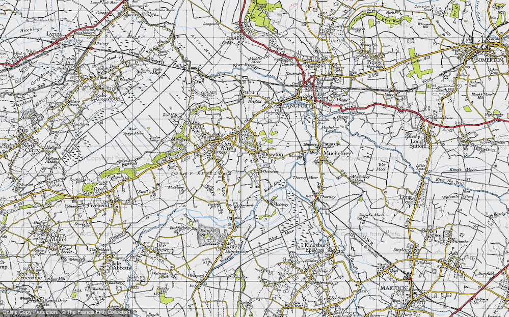 Old Map of Whitecross, 1945 in 1945