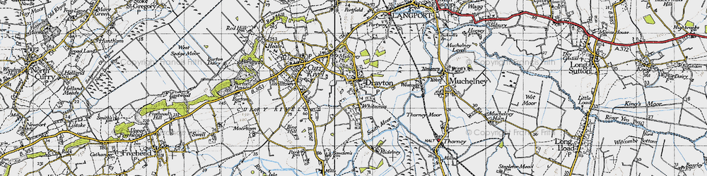 Old map of Whitecross in 1945