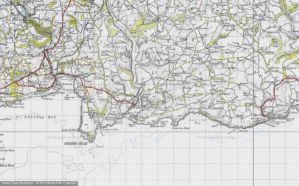 Old Map of Whitecross, 1946 in 1946