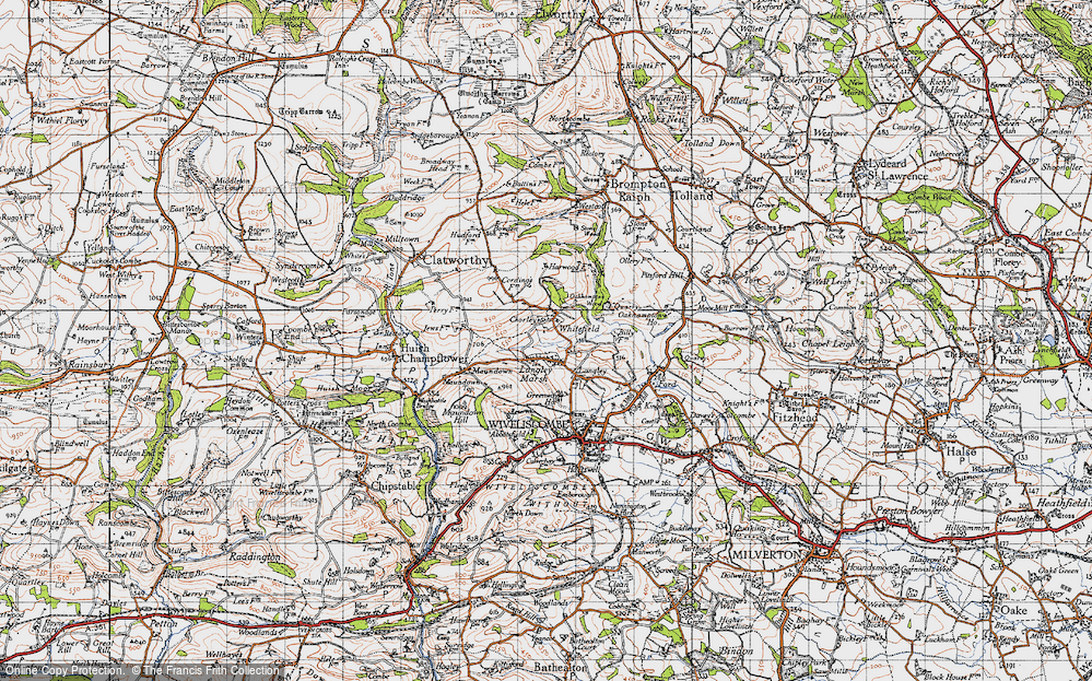 Old Map of Whitefield, 1946 in 1946