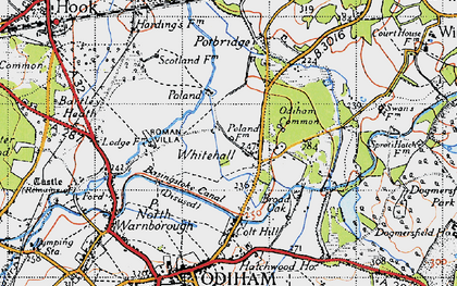 Old map of Whitehall in 1940