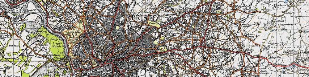 Old map of Whitehall in 1946