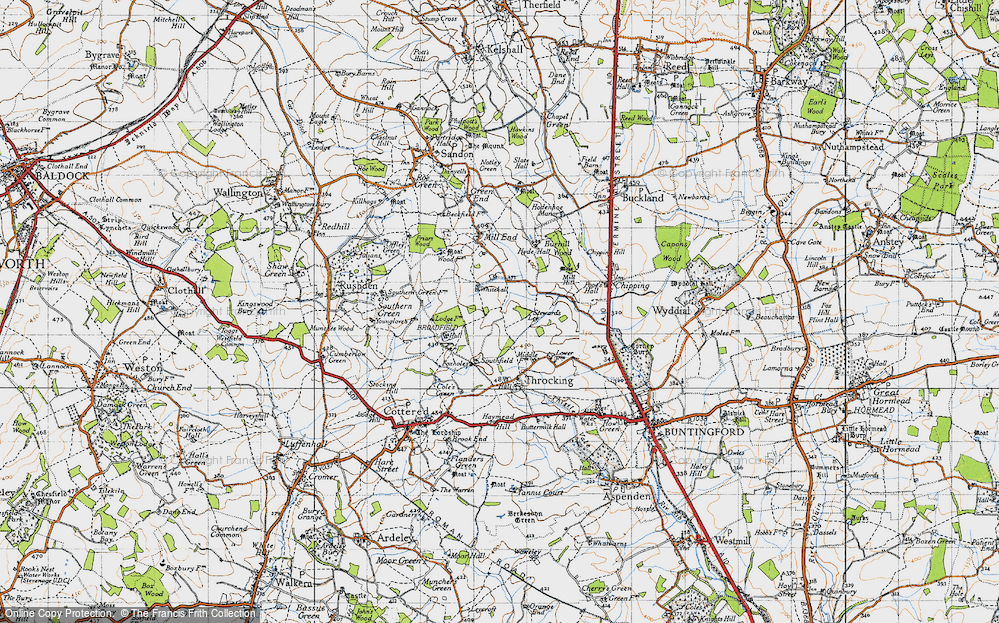Old Map of Whitehall, 1946 in 1946