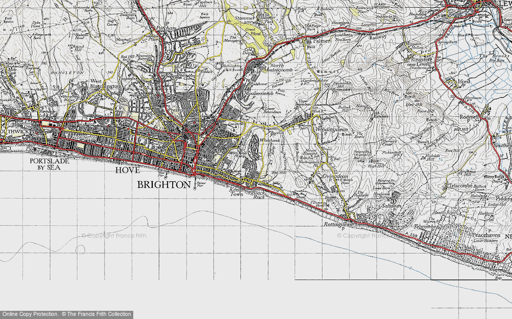 Old Map of Whitehawk, 1940 in 1940