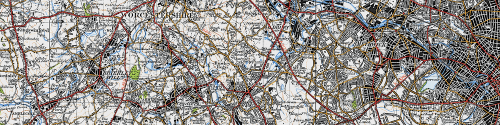 Old map of Whiteheath Gate in 1946