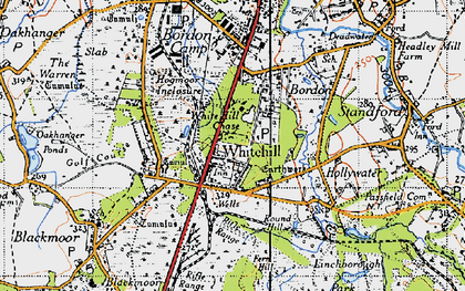 Old map of Whitehill in 1940