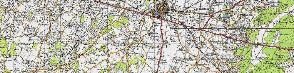 Old map of Whitehill in 1946