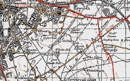 Old map of Whitehills in 1947