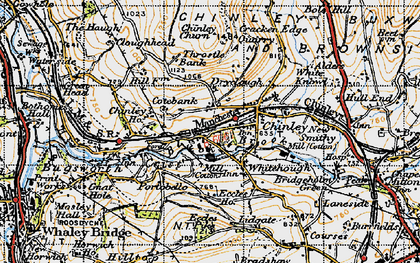 Old map of Whitehough in 1947