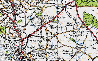 Old map of Ashfurlong Hall in 1946